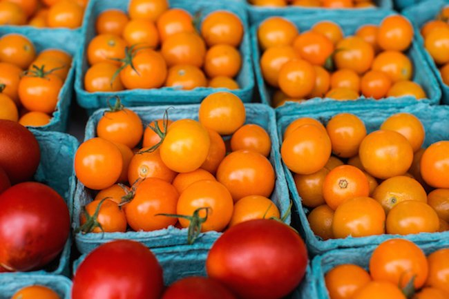 Tomatoes at farm market