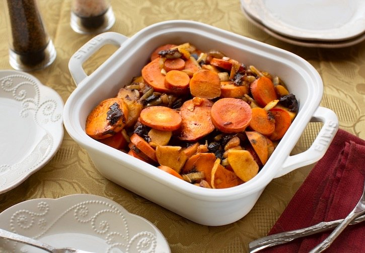 Tzimmes - sweet potato & carrot for the Jewish holidays