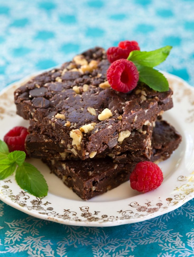 Unbaked Fudgy Vegan Chocolate Brownies