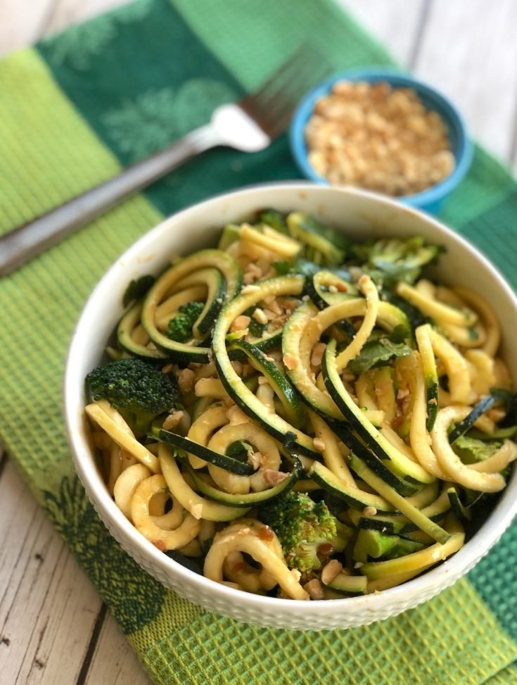 Zucchini Noodles with Peanut Satay Sauce