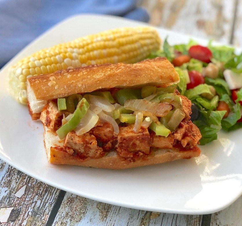 Barbecue-flavored Tofu subs
