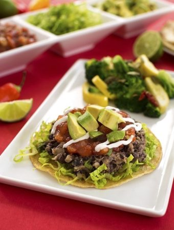 Easy vegan Black Bean Tostadas