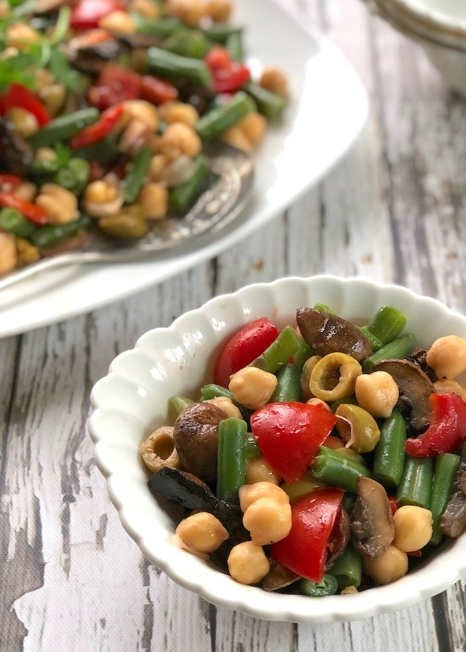 Chickpeas and Green Beans with Balsamic Mushrooms2