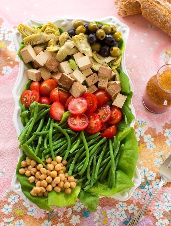 Vegan Niçoise salad