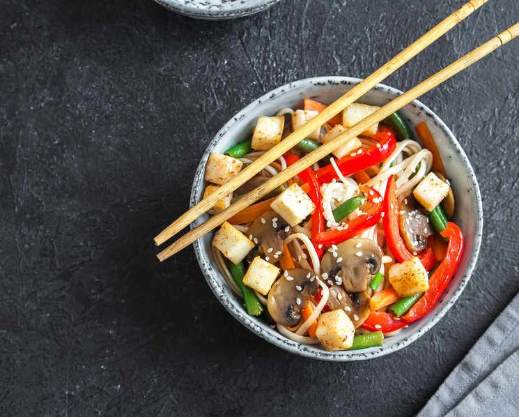 Asian Noodles with Stir-Fried Vegetables