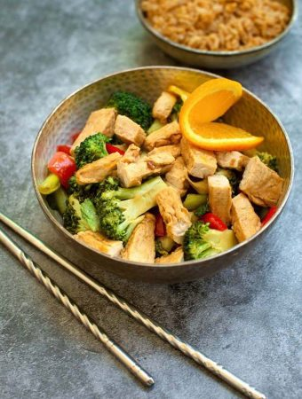 Vegan Orange Chick'n & Broccoli