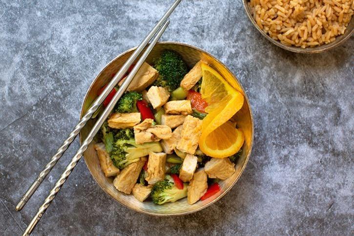 Vegan Orange Chicken & Broccoli2