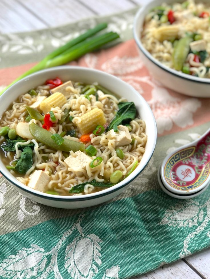 Easiest, Cheapest Ramen Noodle Vegetable Soup Ever
