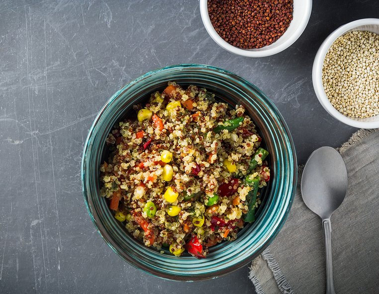 Salsa quinoa and corn salad