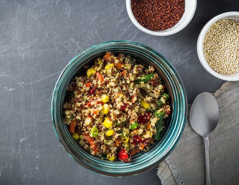 Salsa corn and quinoa salad