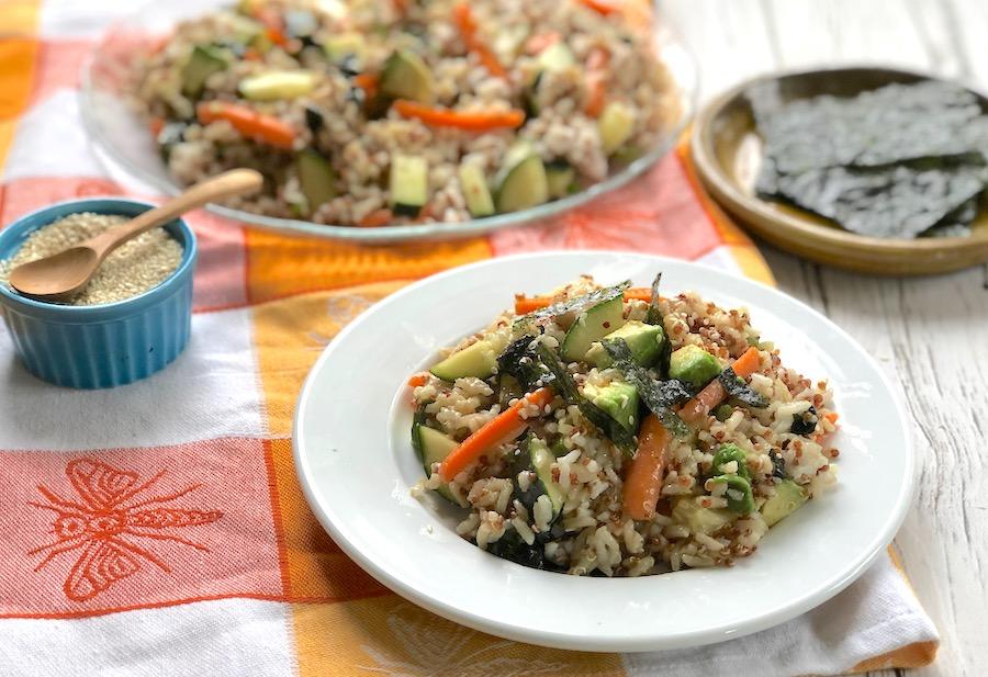 Veggie Sushi salad bowl