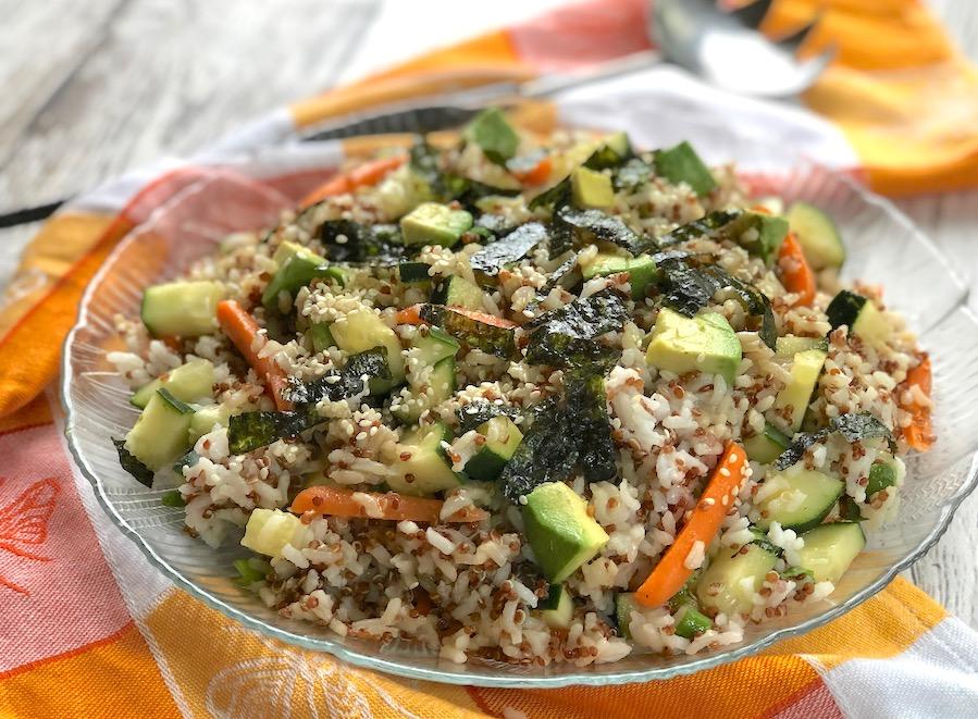 Sushi salad bow