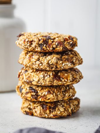 Vegan Three-seed tahini cookies