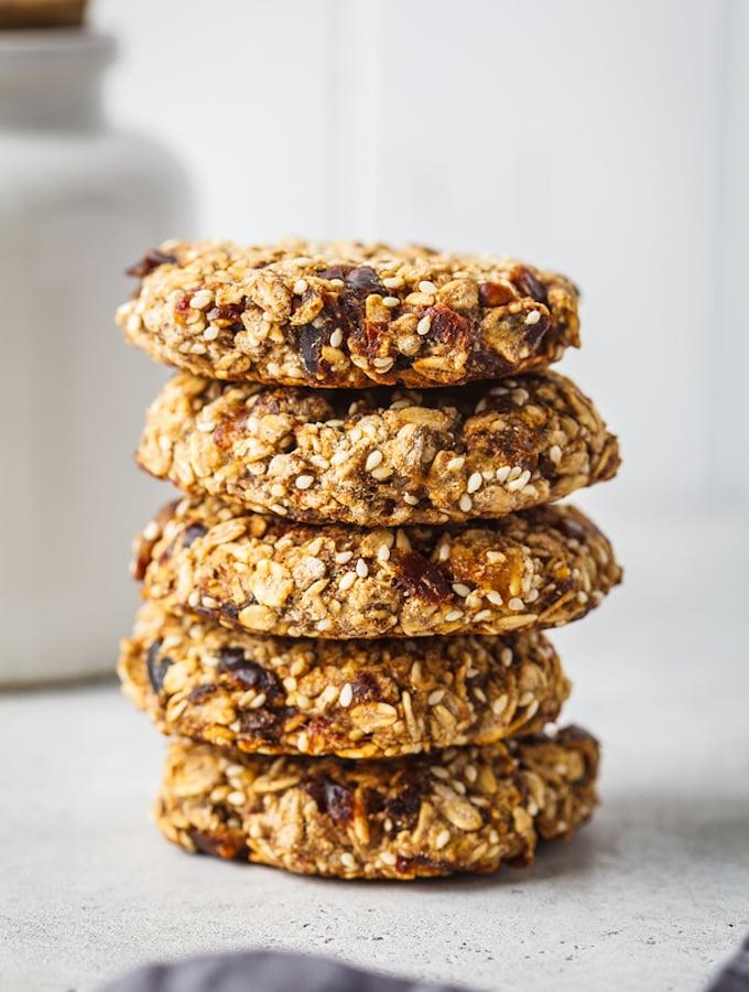 Vegan Three-seed tahini cookies