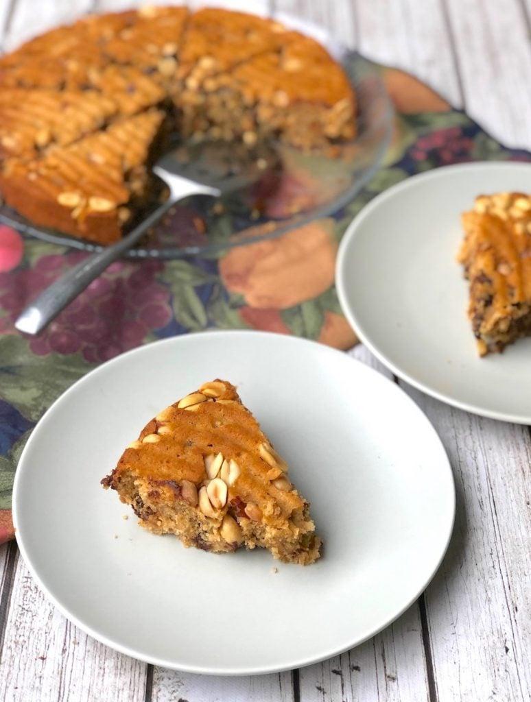 Vegan Chocolate chip peanut butter blondies1