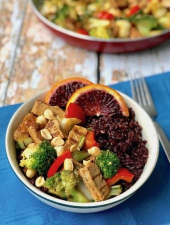 Vegan Orange Chicken and Broccoli