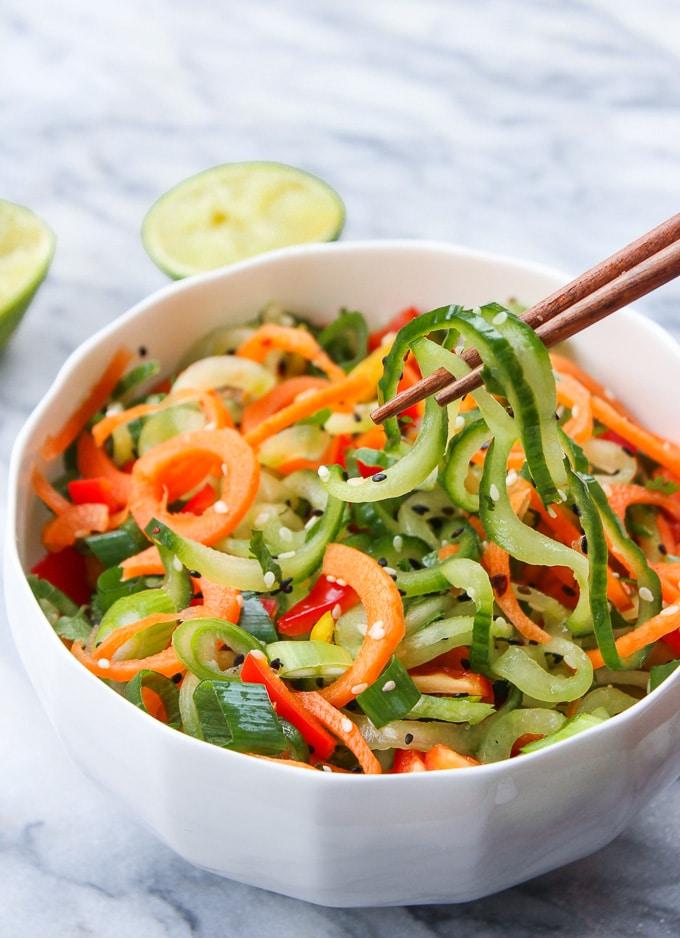Asian Cucumber Sesame Salad