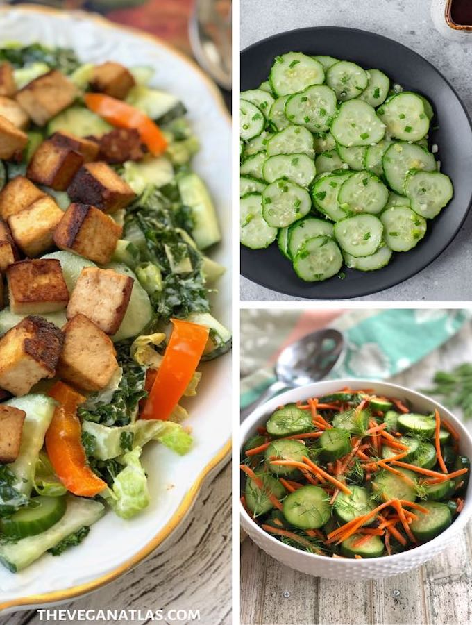 Cucumber salads roundup