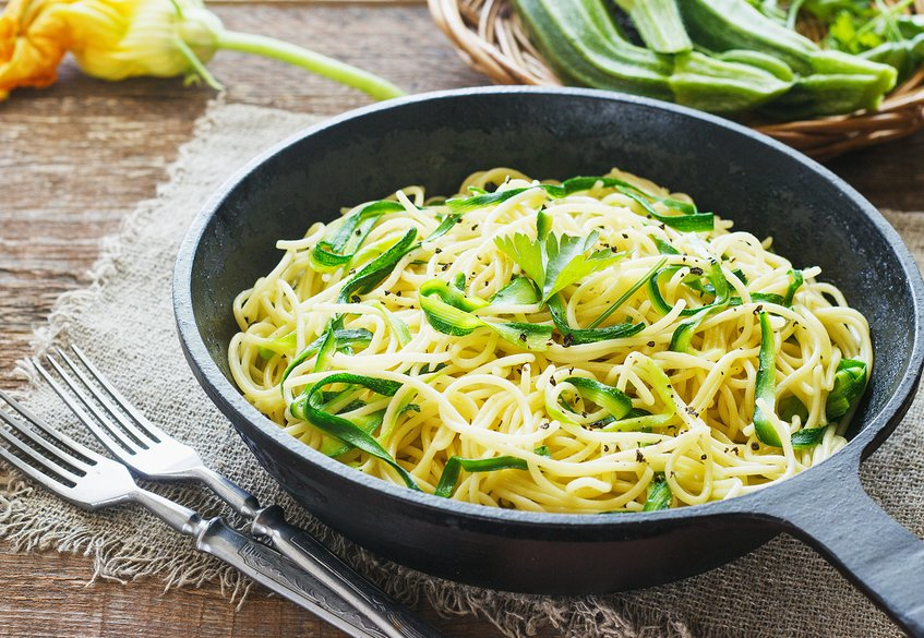 Garlic Spaghetti with Spiralized Zucchini
