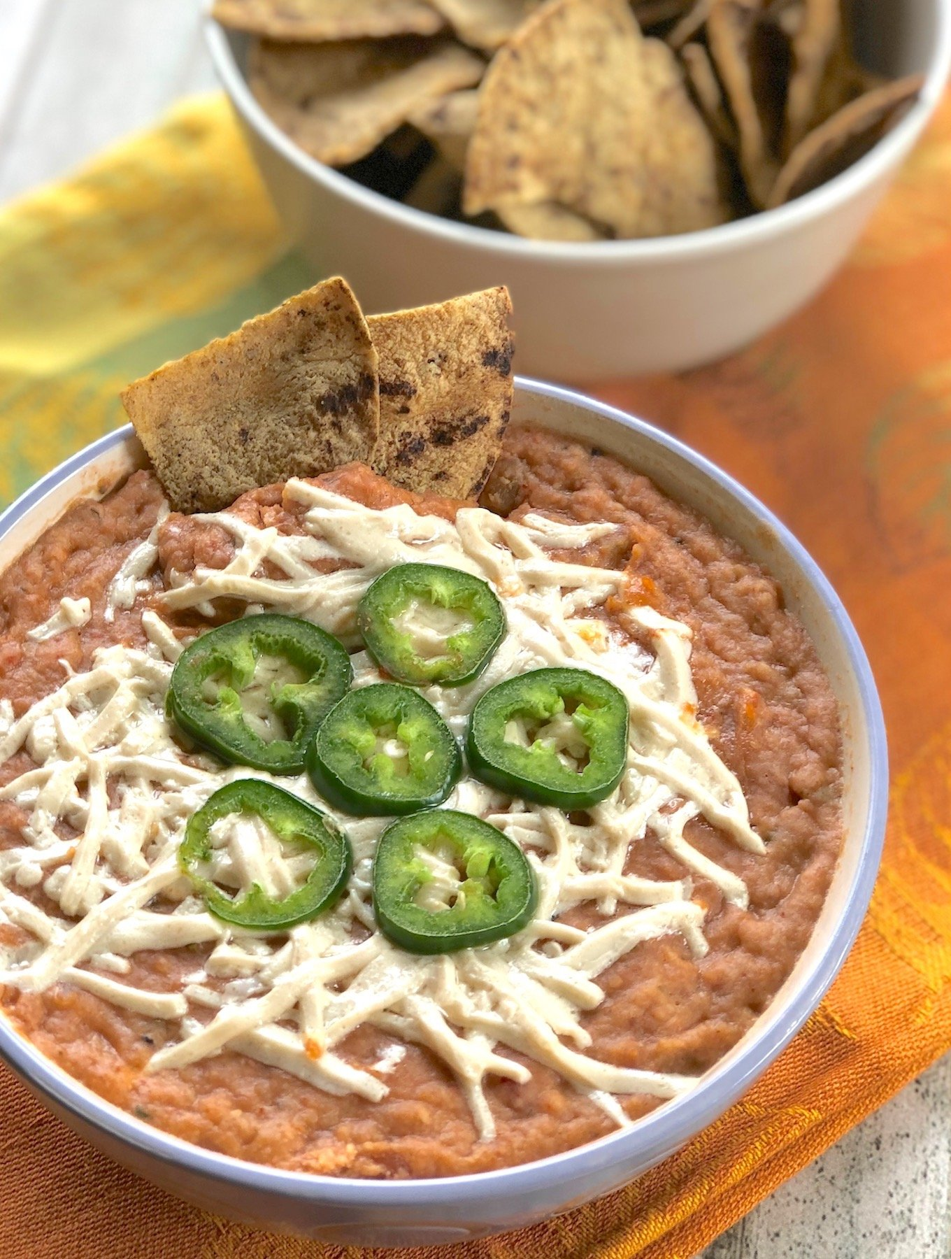 Easy Vegan Hot Bean Dip