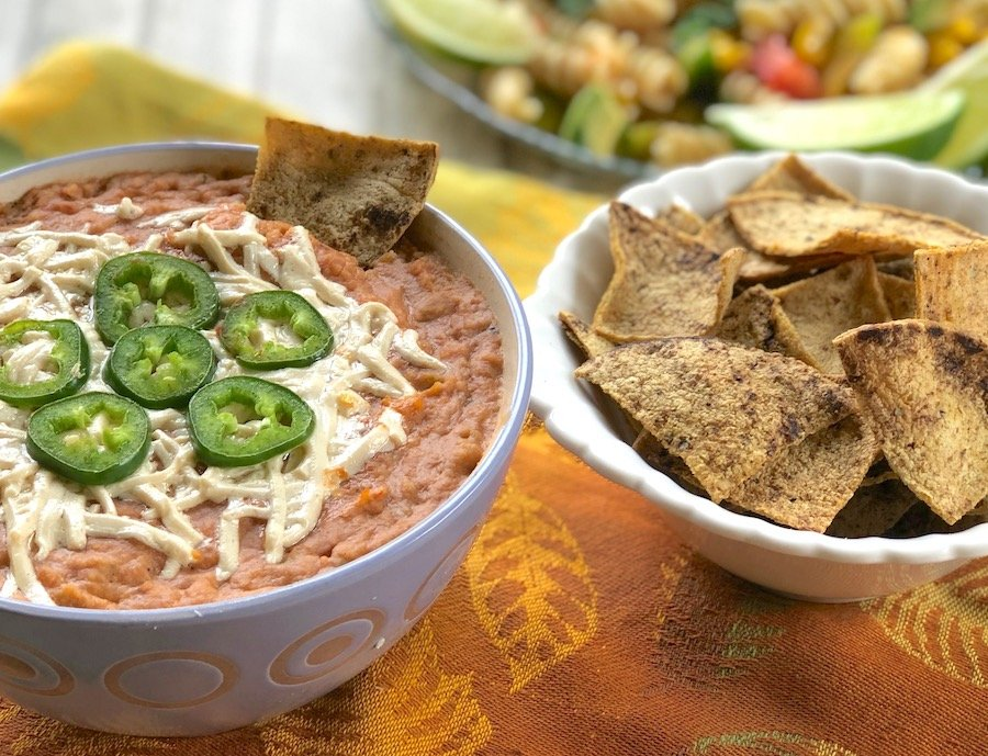Crazy-Easy Vegan Hot Bean Dip