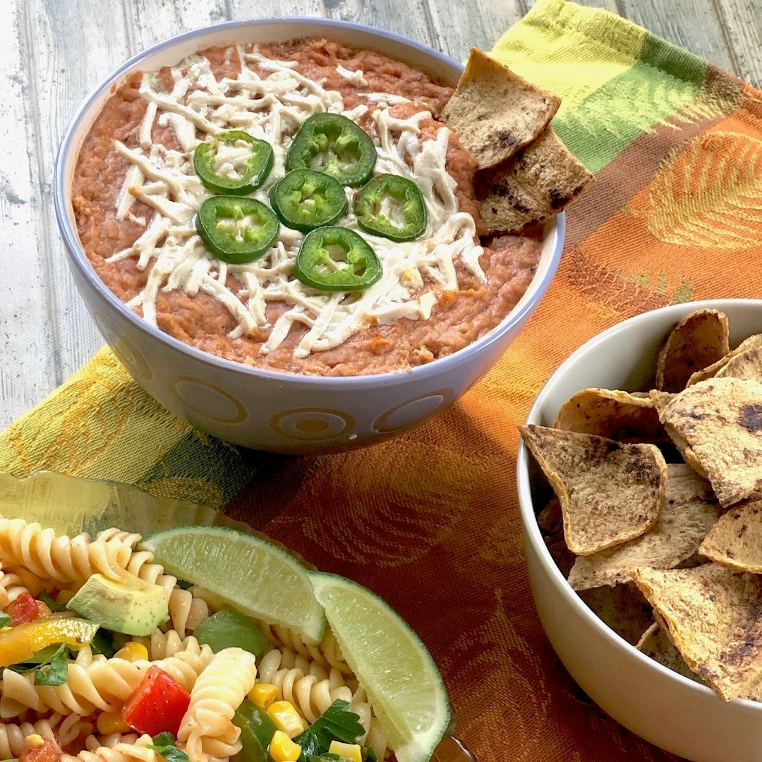 Easiest vegan hot bean dip
