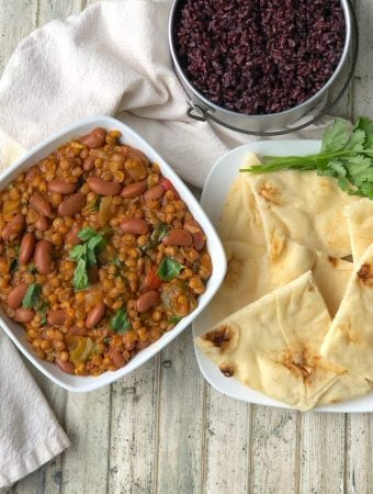 Lentil and Kidney Bean Curry