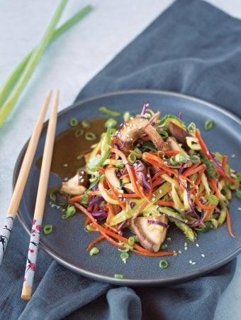 Raw Wok Vegetable Zuchhini Noodle Stir-Fry