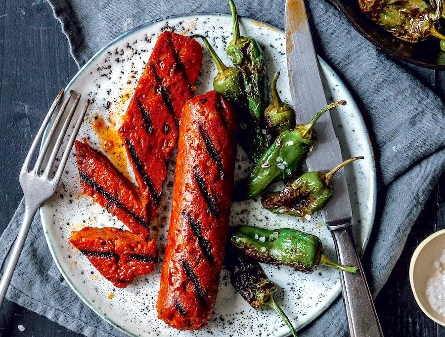 Homemade Spicy Vegan Chorizo sausage