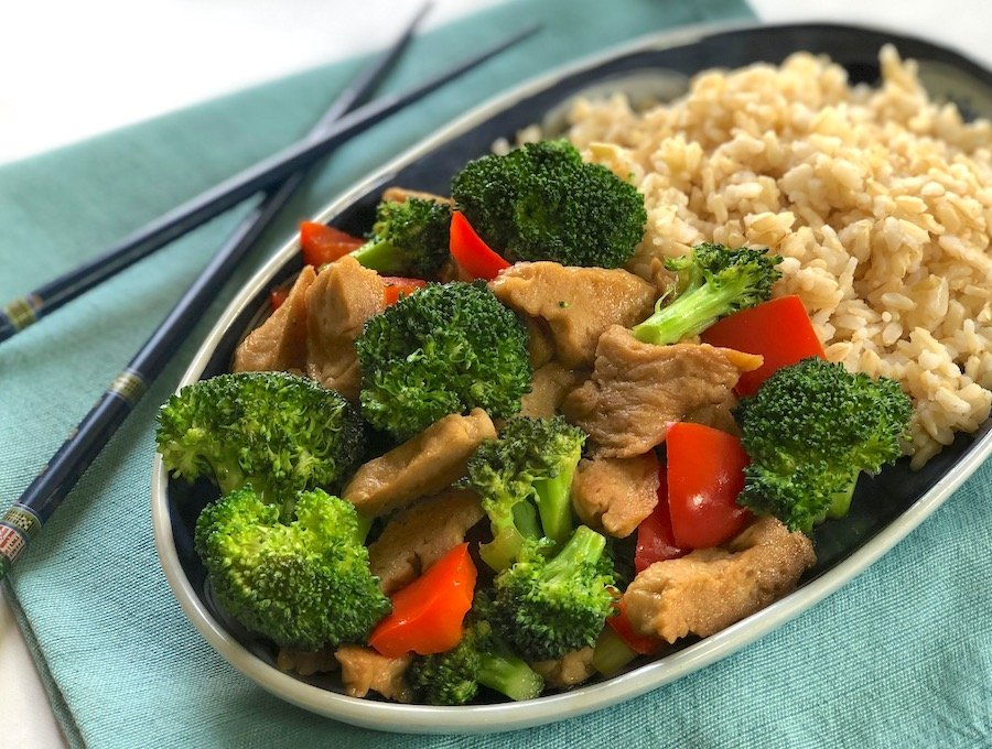 Stir-Fried Seitan and Broccoli