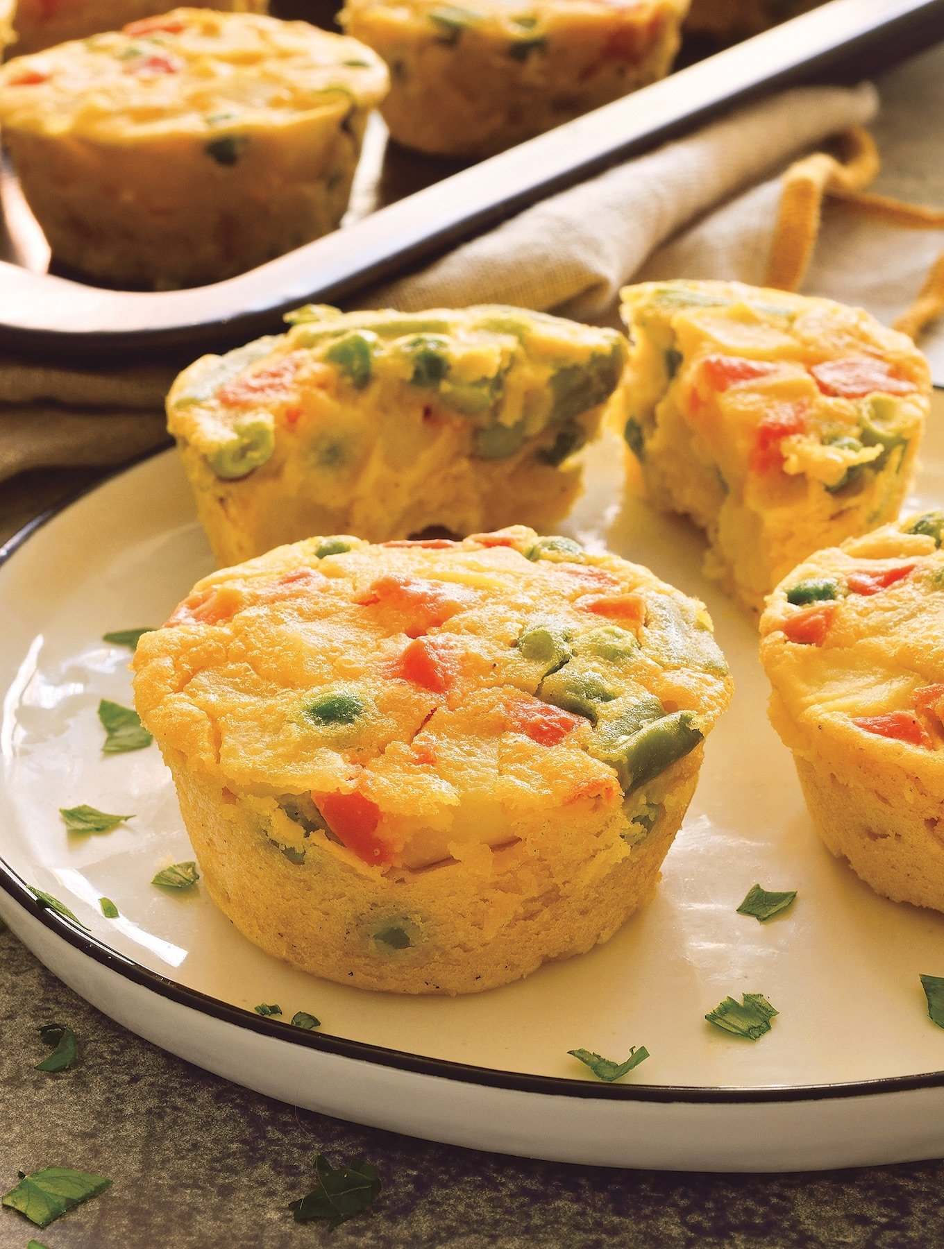 Vegan mini quiche cups (made with chickpea flour)