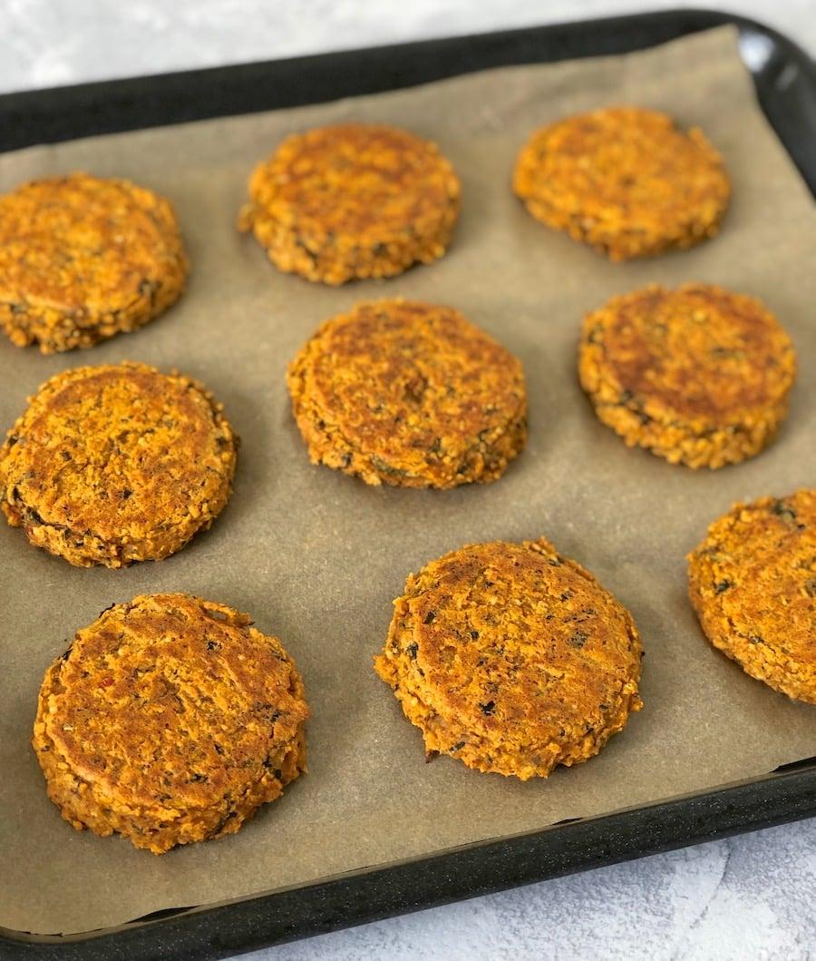Vegan curried chickpea burger recipe