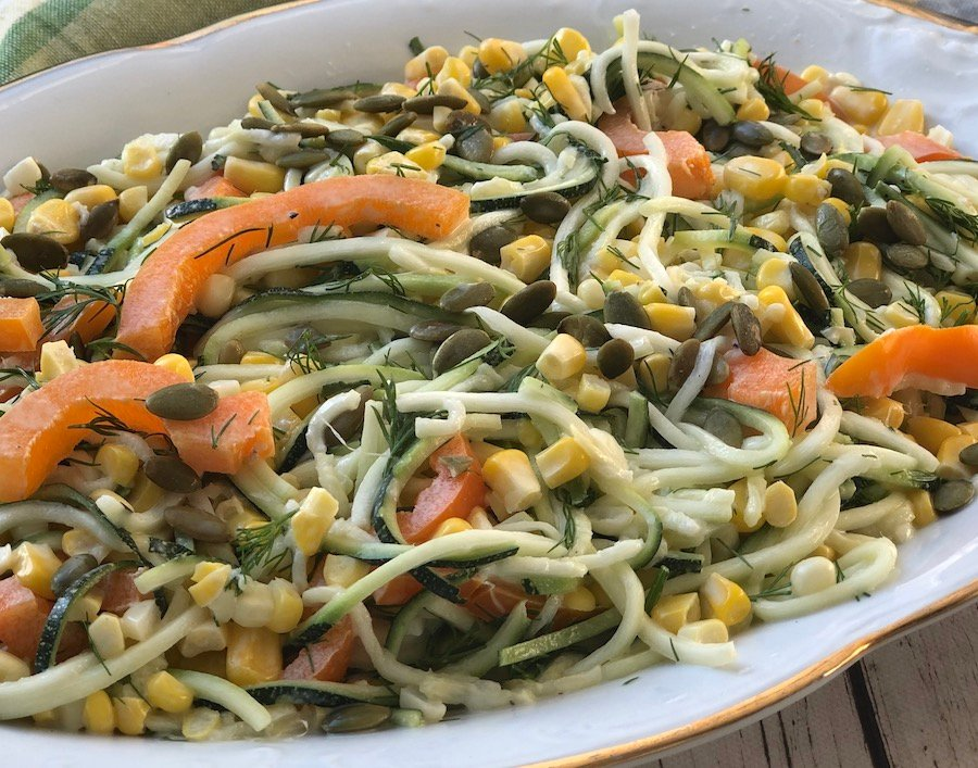 Corn and Zucchini noodles3