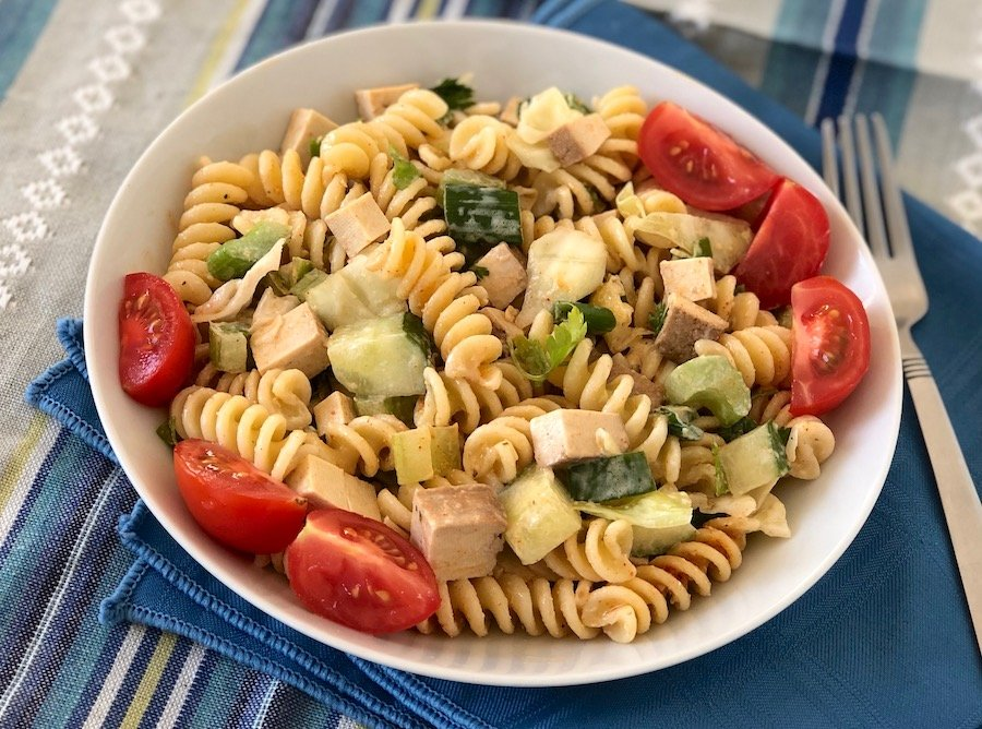 Tofuna Pasta salad