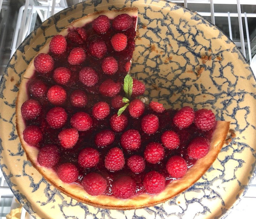 Pulse café vegan raspberry cheesecake