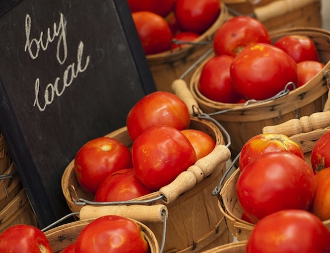 Buy local tomatoes