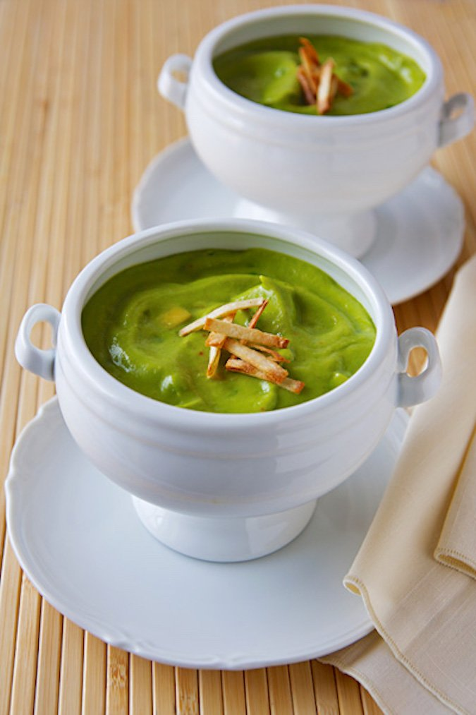 Cold Avocado and Green Pea Soup