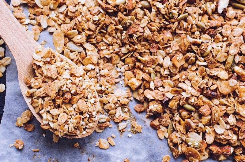 Homemade crunchy Granola cereal