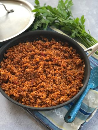 Italian-Flavored Vegan Beef-less Ground