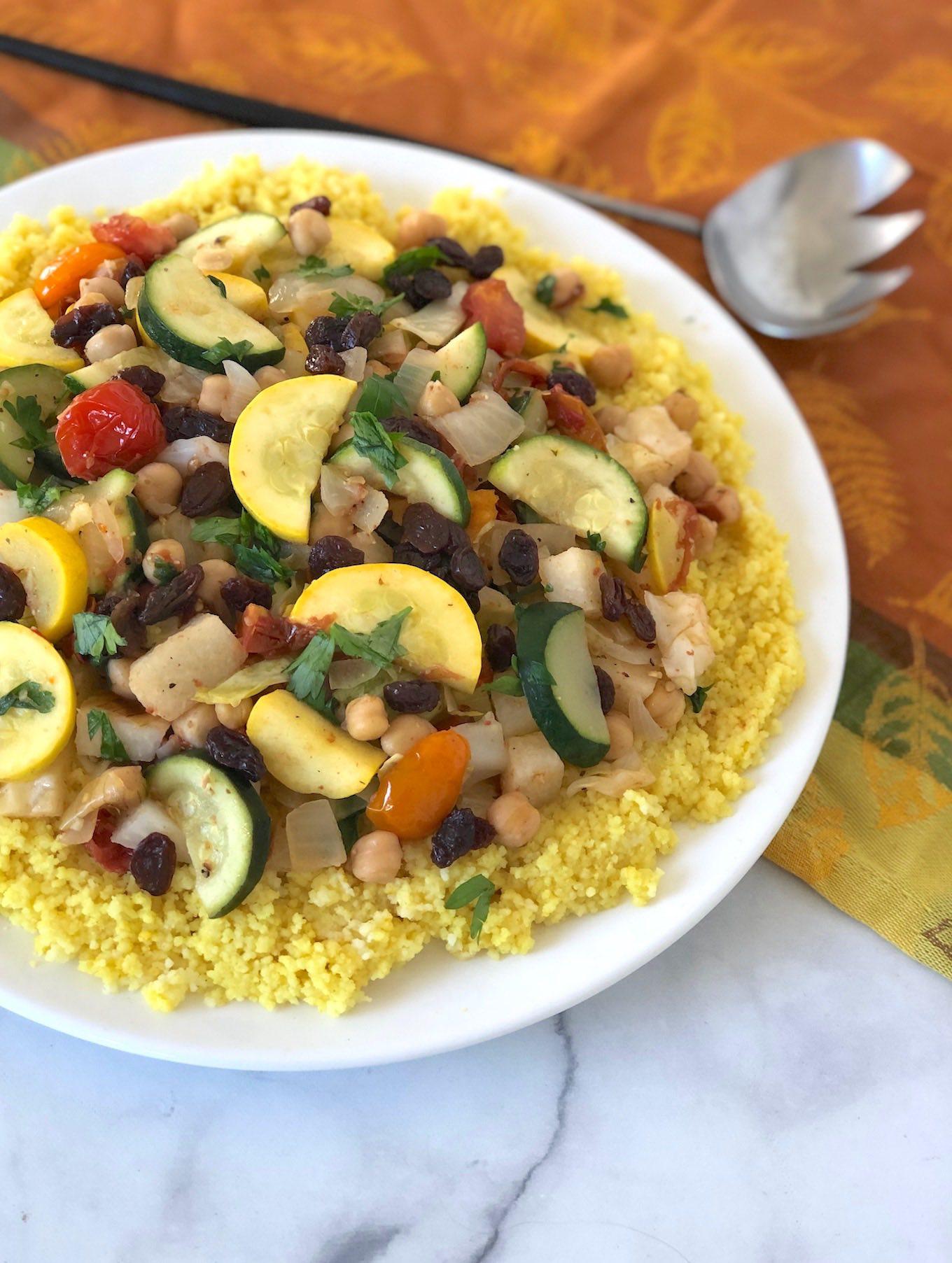 Seven vegetable couscous for Rosh Hashanah