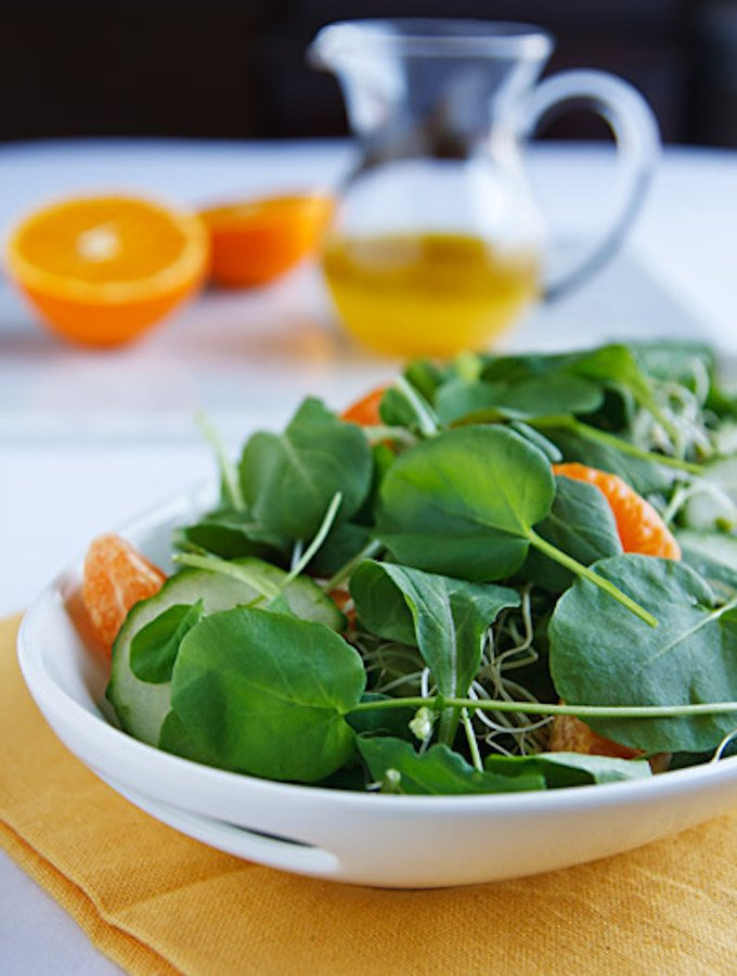 Watercress Salad with Orange & Cucumber
