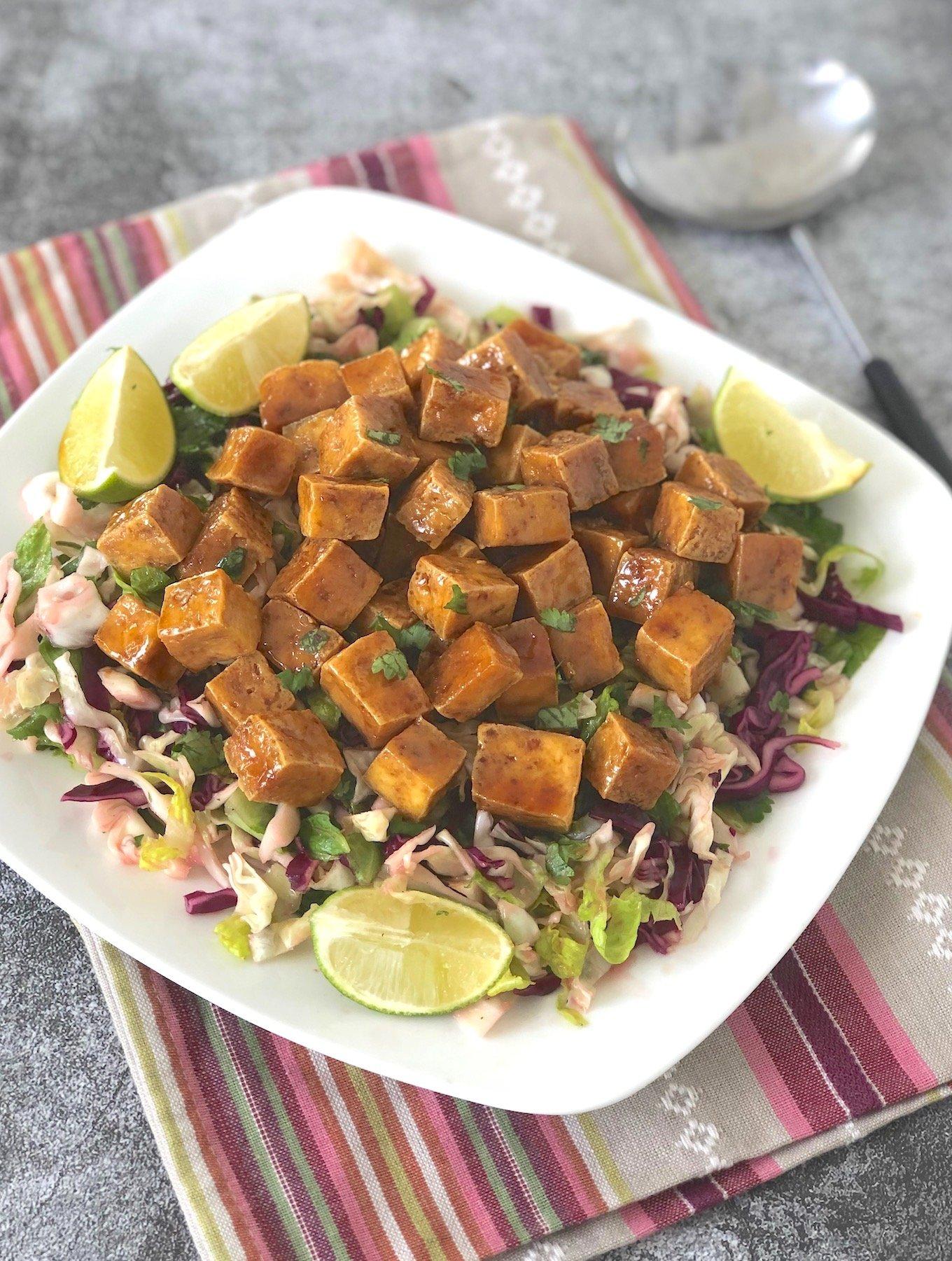 Sweet + Salty Caramelized tofu