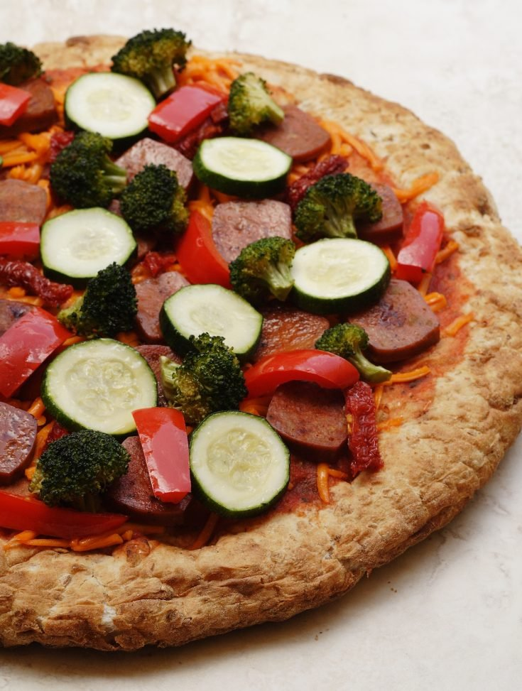 Whole Wheat and Spelt Pizza Crust