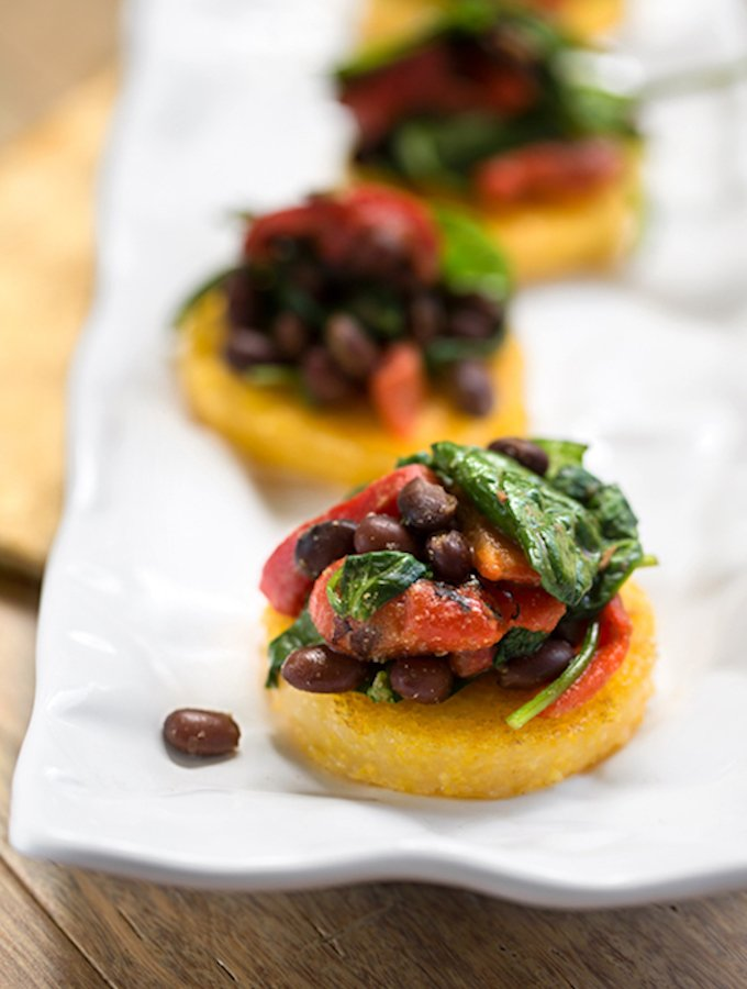 Polenta with black beans & spinach2