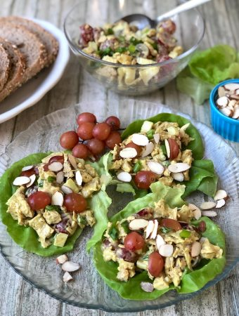 Vegan curried chicken salad