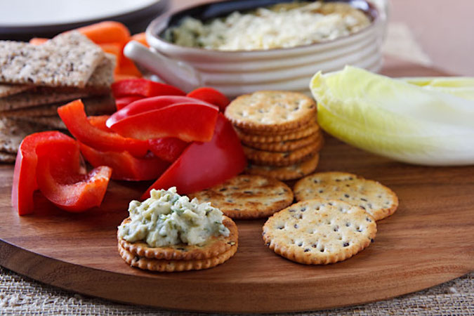 Vegan Hot Artichoke Dip with Spinach