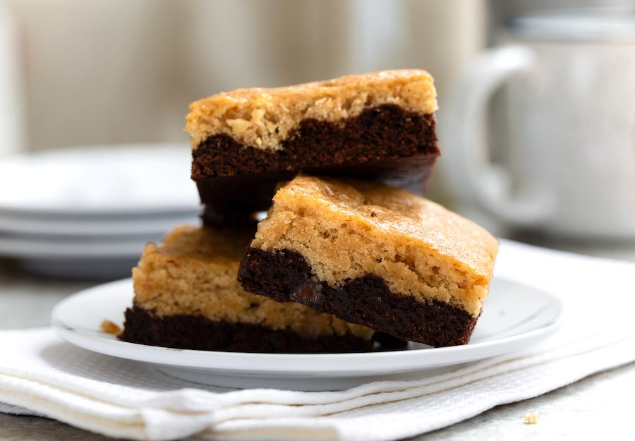Vegan Black Bottom Blondies