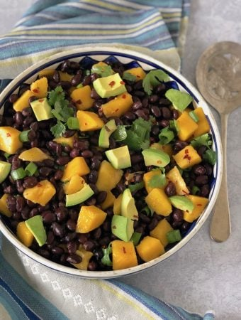 Black bean and mango salad with avocado