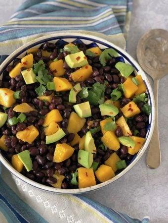 Black bean and mango salad with avocado