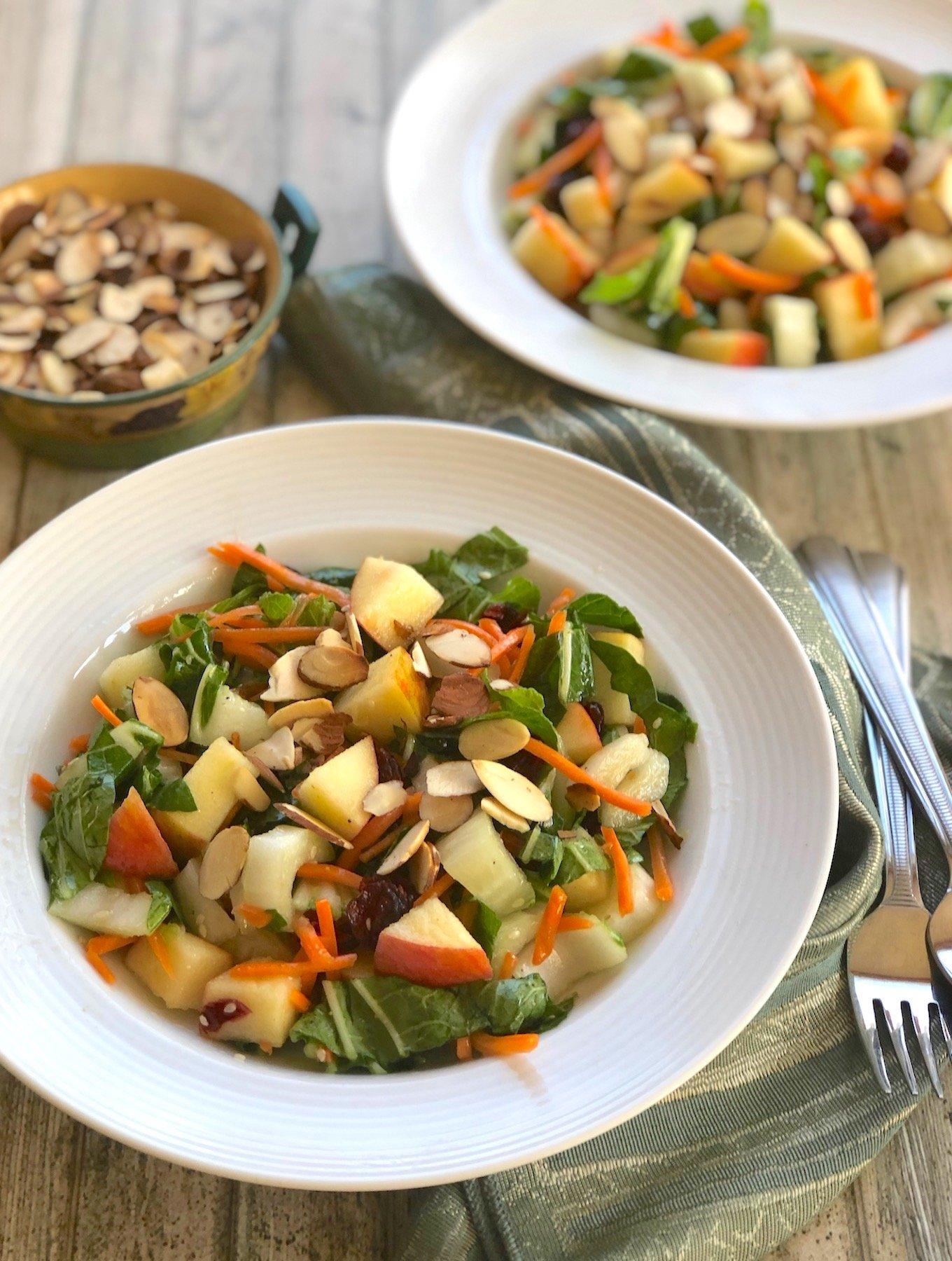 Bok choy and apple salad